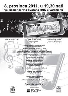 Plakat koncerta Broadway u Varaždinu