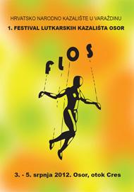 Plakat  1. FLOS-a – Festivala lutkarskih kazališta Osor