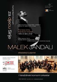 Plakat humanitarnog koncerta Glas za djecu Sirije