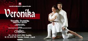 Plakat praizvedbe baleta Veronika Desinička