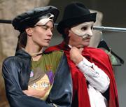 Fotografija s proba - Mihail Bulgakov: Von Lamot od mača, red. Želimir Mesarić; Dora Fišter i Zdenko Brlek, foto: Darko Gorenak