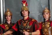Aram Hačaturjan - Svebor Sečak: CALIGULA, Ovidu Muscalu (Vojnik), Ilir Kerni (Cassius Charea), Dan Boeru (Vojnik); foto: Saša Novković