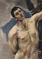 El Greco: Sv. Sebastian (1580), Sacristía de la Catedral de Palencia (Španjolska), ulje na platnu