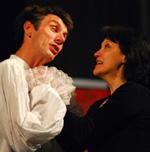Fotografija s proba predstave MOLIERE Carla Goldonija u režiji Ivice Boban; Marinko Prga i Mirjana Sinožić; foto: Saša Novković
