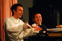 Fotografija s proba predstave MOLIERE Carla Goldonija u režiji Ivice Boban; Marinko Prga i Berislav Tomičić; foto: Saša Novković