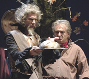 Mihail Bulgakov: VON LAMOT OD MAČA, red. Želimir Mesarić; Marinko Prga i Ljubomir Kerekeš, foto: Arhiv HNK u Varaždinu